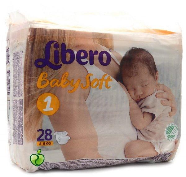 Libero Еднократни бебешки пелени памперс Нюборн р-р 1 /2-5кг./ 28бр. 62001